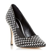 Dune Brooklyne weave detail court shoes