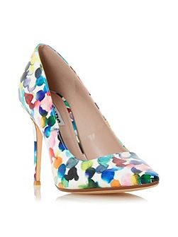 Blosome bubble print court shoes