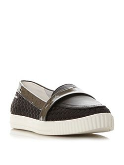D amalthia point woven slip on trainers