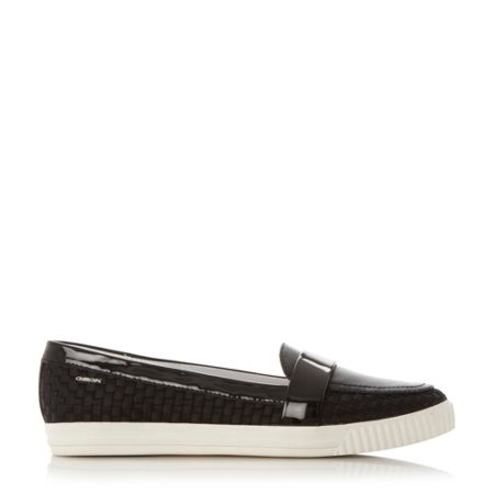 Geox D amalthia point woven slip on trainers