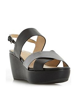 D thelma cross strap wedge sandals