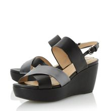 Geox D thelma cross strap wedge sandals