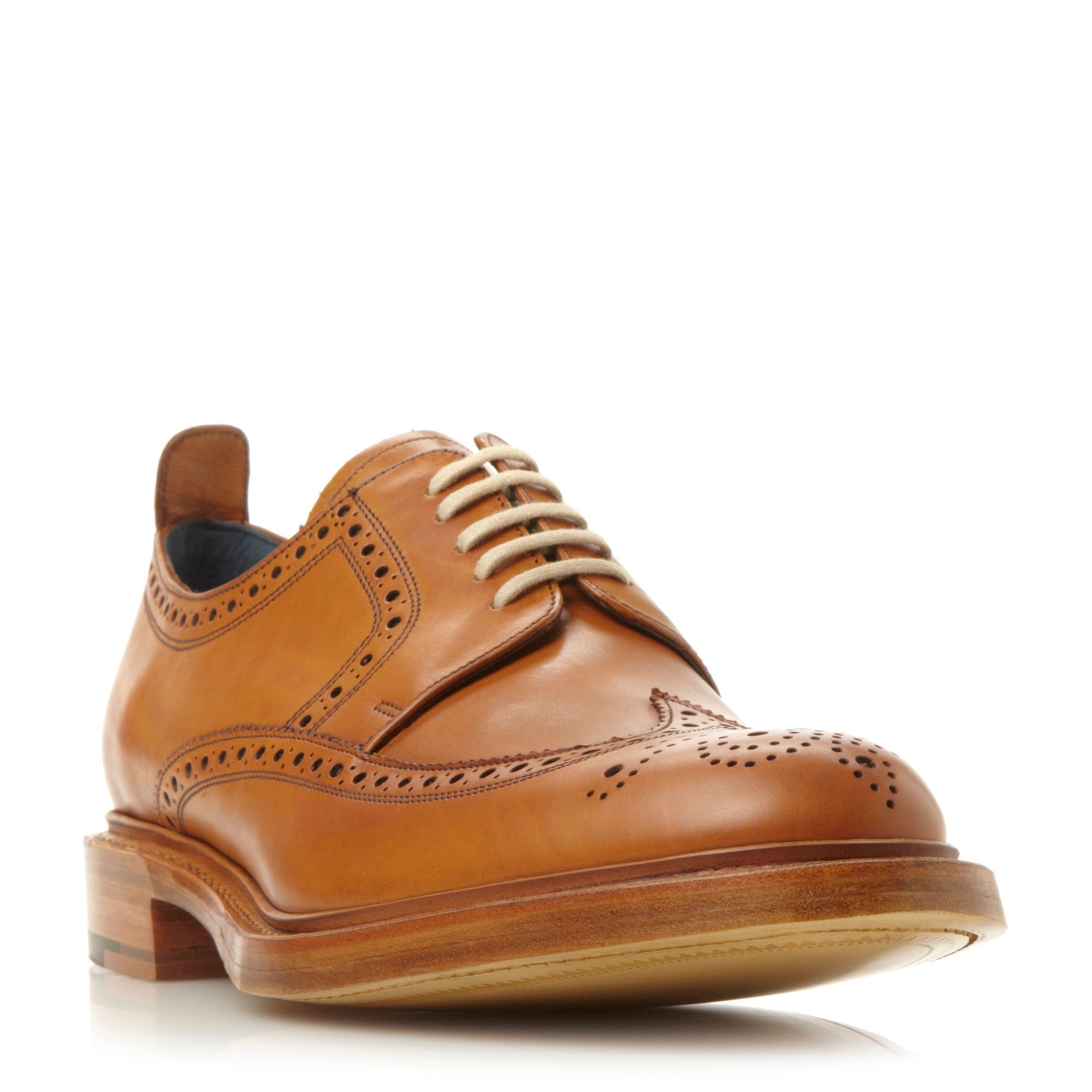 Barker Barker Bailey leather lace up brogues, Tan