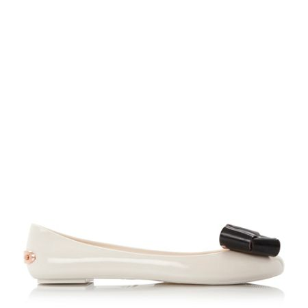 Ted Baker Faiyte bow detail jelly ballet pumps