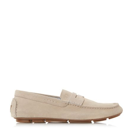 Armani Jeans 658855 suede penny driver loafers