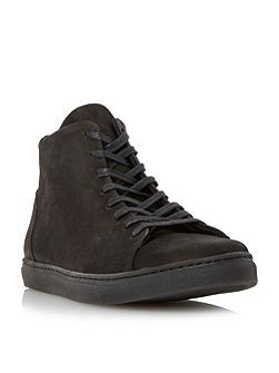 Sawyer high top nubuck trainer