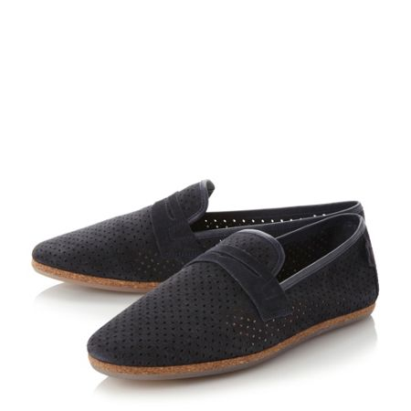 H by Hudson Platt perf suede loafers