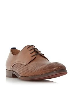 Redial perforated leather derby shoe