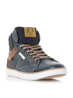 Sailor perforated high top trainer