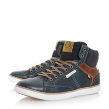 Dune Sailor perforated high top trainer