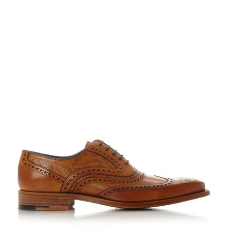 Barker Mcclean laser paisley brogue shoes