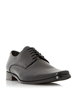 Alphabets square toe leather derby shoe