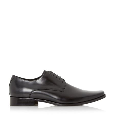 Dune Alphabets square toe leather derby shoe