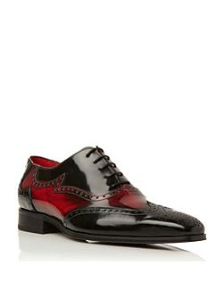 J637 contrast detail oxford shoes