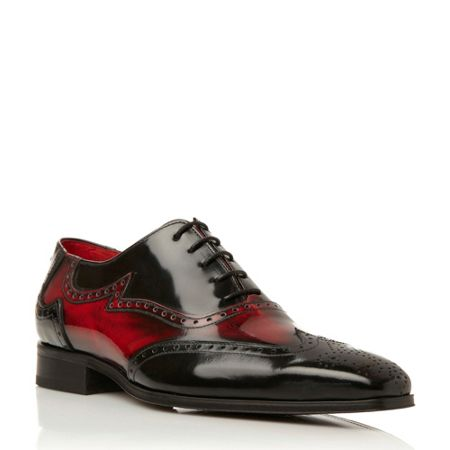 Jeffery West J637 contrast detail oxford shoes