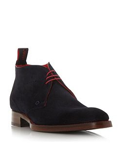 Massuka suede punch detail boots