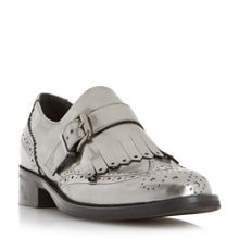 Dune Fabia fringe detail brogue monk shoes