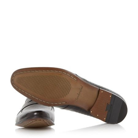Dune Rattlesnake leather penny loafer