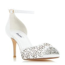 Dune Mylene laser cut peep toe sandals