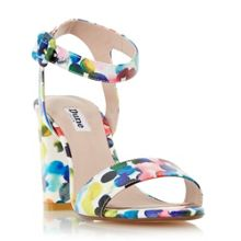 Dune Melrose bubble print two part sandals