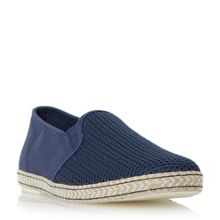 Fencing mesh vamp espadrille shoes