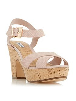 Iyla cross vamp block heel sandals
