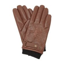 Pollars ribbed quilted leather glove