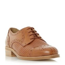 Dune Finchly weave embossed lace up shoes