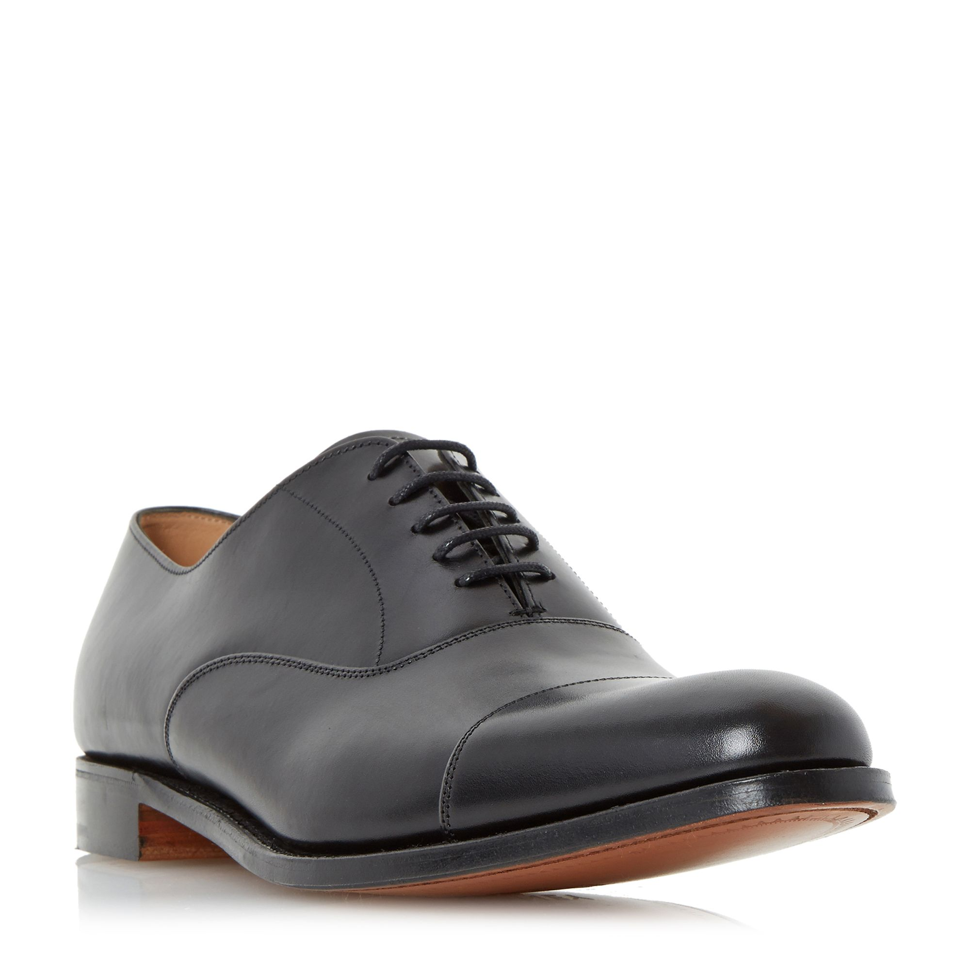 Cheaney Mens Cheaney Mens Lime Classic Toecap Oxford Shoes, Black
