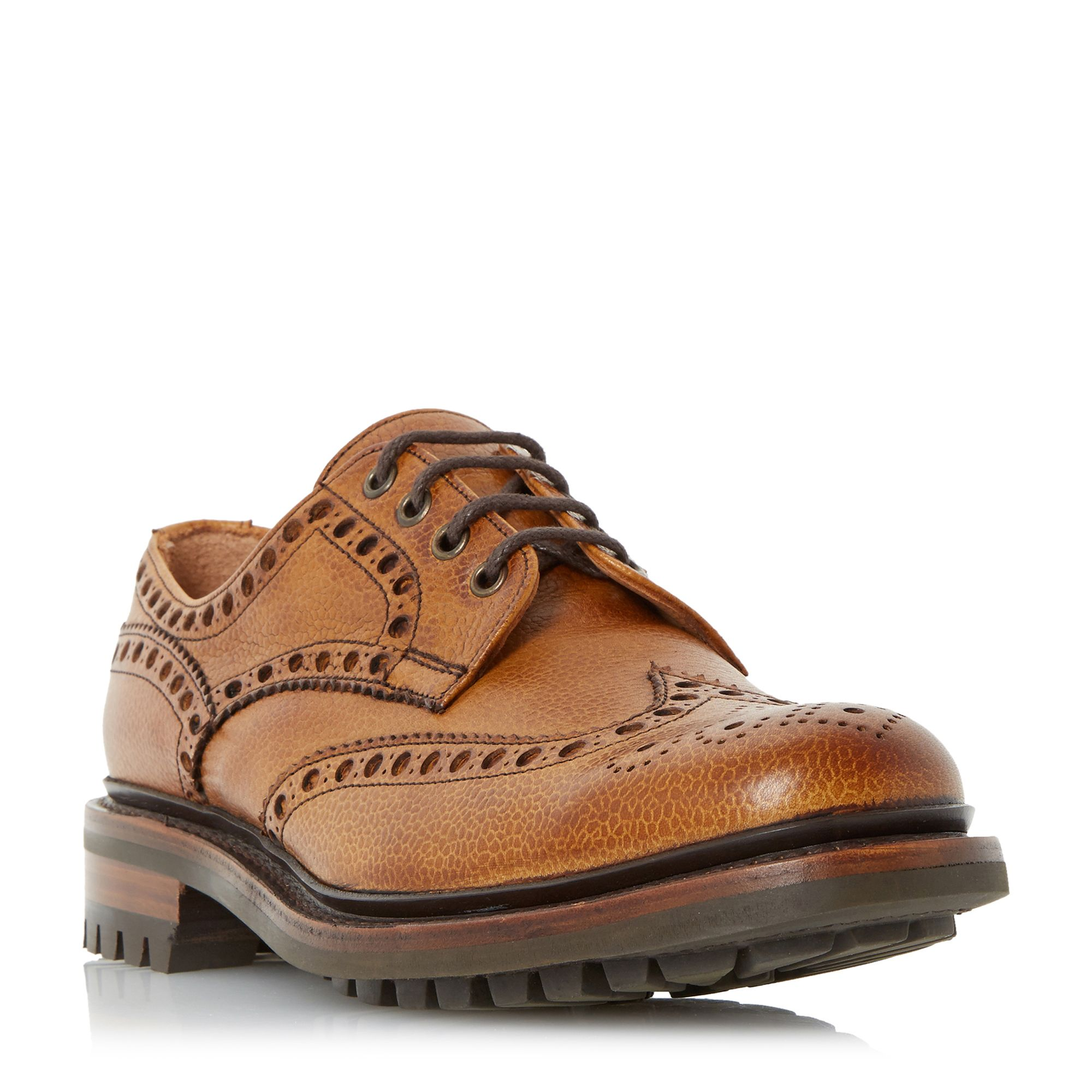 Cheaney Mens Cheaney Mens Avon c Commando Sole Brogues, Tan