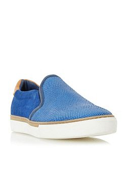 Troy embossed colour pop slip on trainer