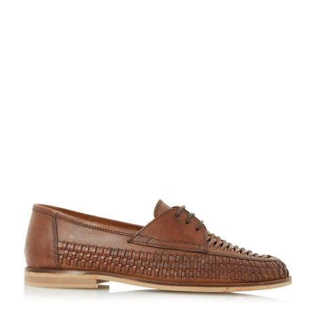 Dune Brighton pier woven lace up shoe