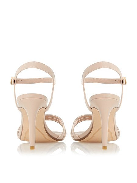 Dune Maci strappy two part mid heel sandals Nude - House of Fraser