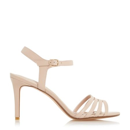 Dune Maci strappy two part mid heel sandals