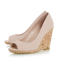 Dune Charlotte peep toe wedge courts