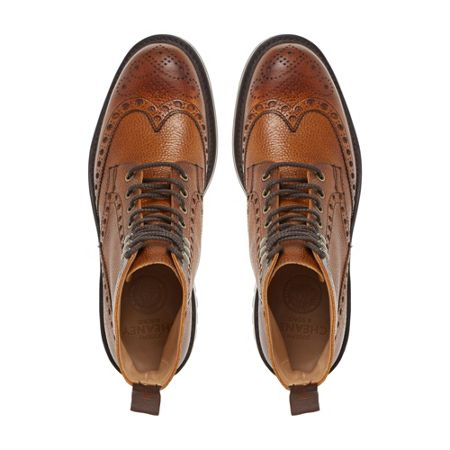 Cheaney Mens Tweed Commando Sole Brogue Boots