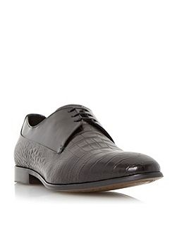 Razorback contrast leather derby shoe