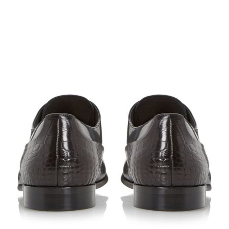 Dune Razorback contrast leather derby shoe