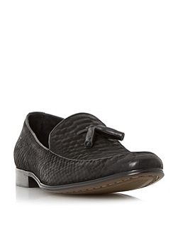 Rockwell reptile effect leather loafers