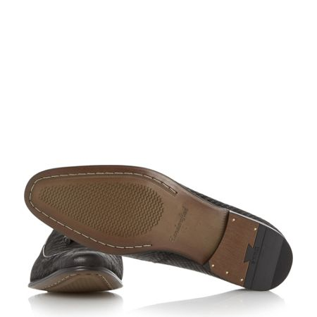Dune Rockwell reptile effect leather loafers