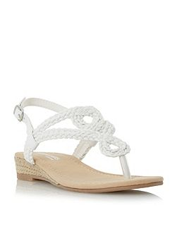 Levin plaited toe post sandals