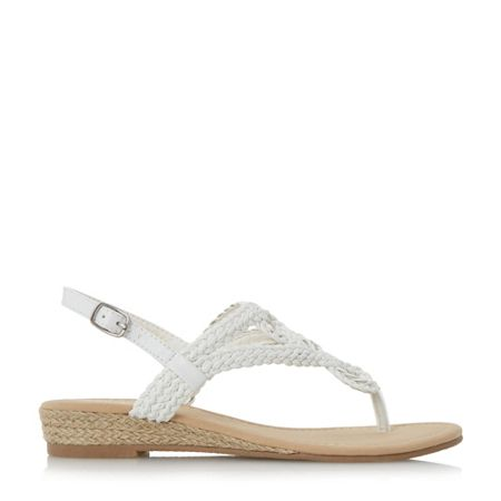 Head Over Heels Levin plaited toe post sandals