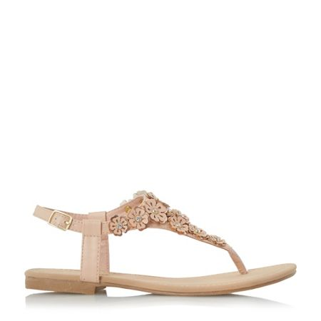 Head Over Heels Lolina flower toe post sandals