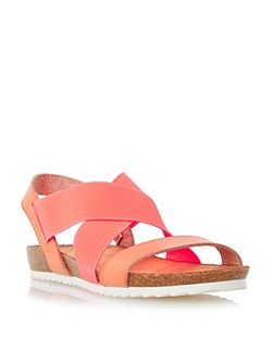 Laurelle cross strap flat sandals