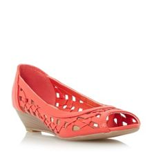 Head Over Heels Kosimo laser cut out wedge sandals