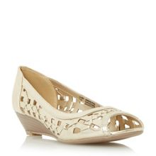 Kosimo laser cut out wedge sandals