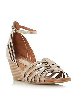 Kruizer two part strappy wedge sandals
