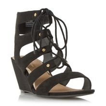 Head Over Heels Kadence ghillie lace up wedge sandals