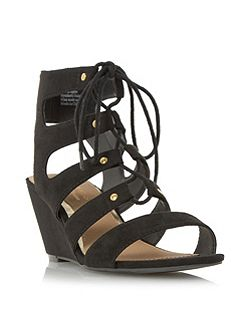 Kadence ghillie lace up wedge sandals