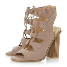 Head Over Heels Ivannah ghilly lace up sandals